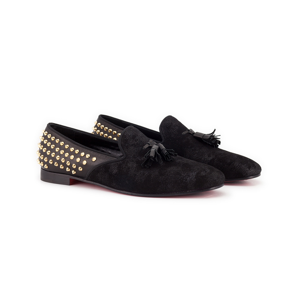 Loafers with tassels and studs